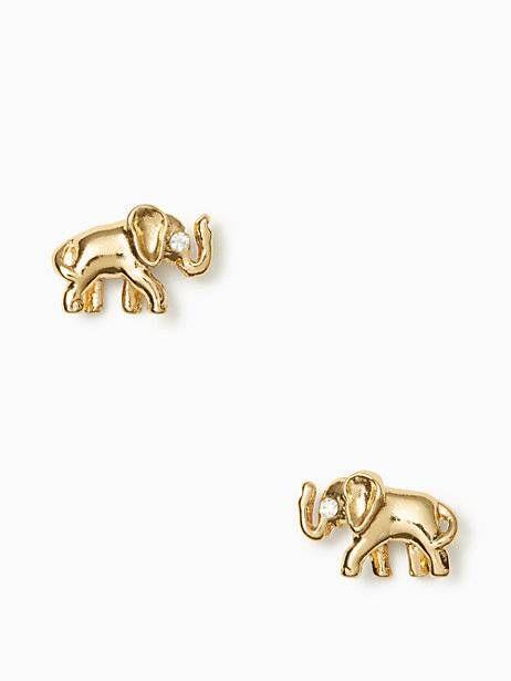 Golden elephant studs
