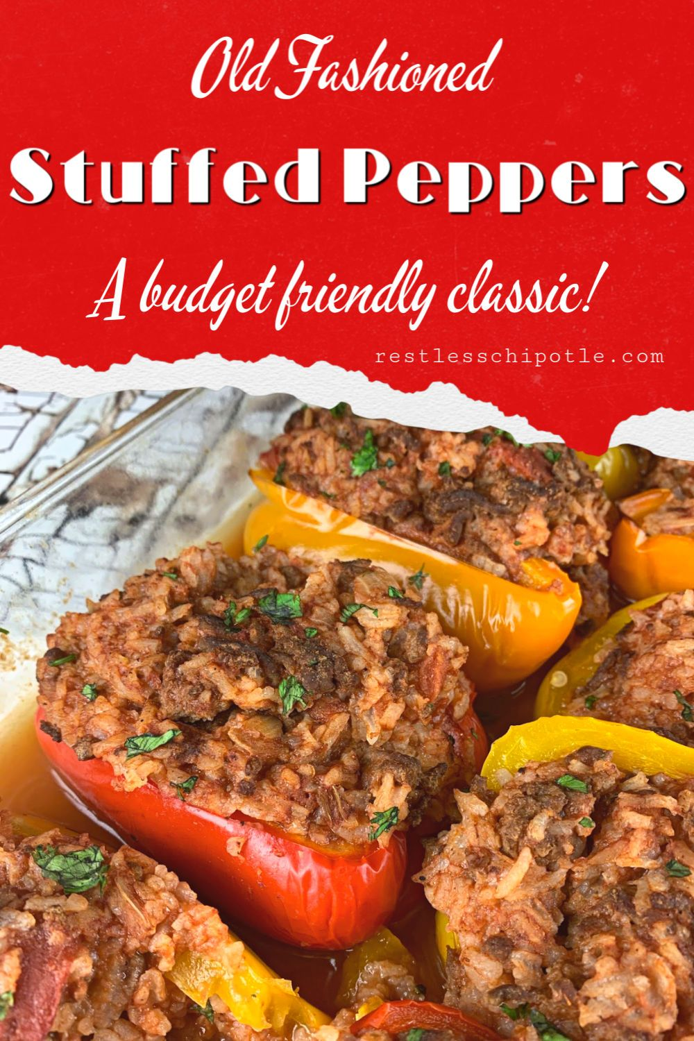 Old Fashioned Stuffed Bell Peppers Recipe In 2020 Stuffed Peppers Classic Stuffed Peppers Recipe Dinner Recipes Easy Family