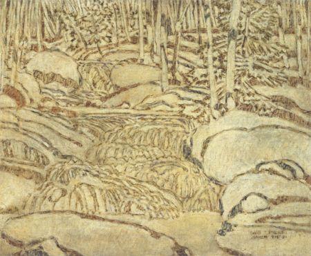 David Milne White, the Waterfall, 1921