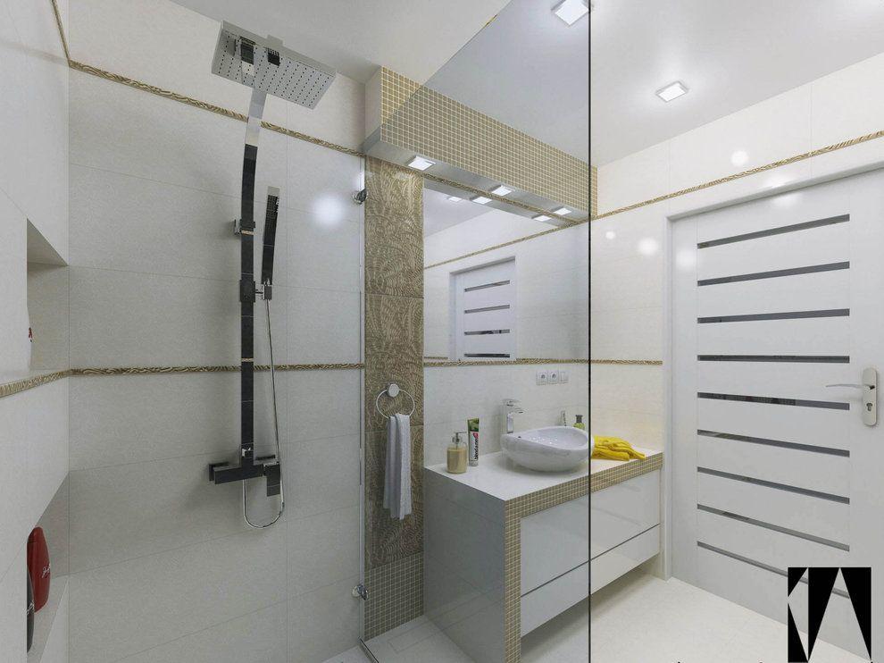 Wnętrza Złota łazienka Widok Na Szafkę Pod Blatem Z
