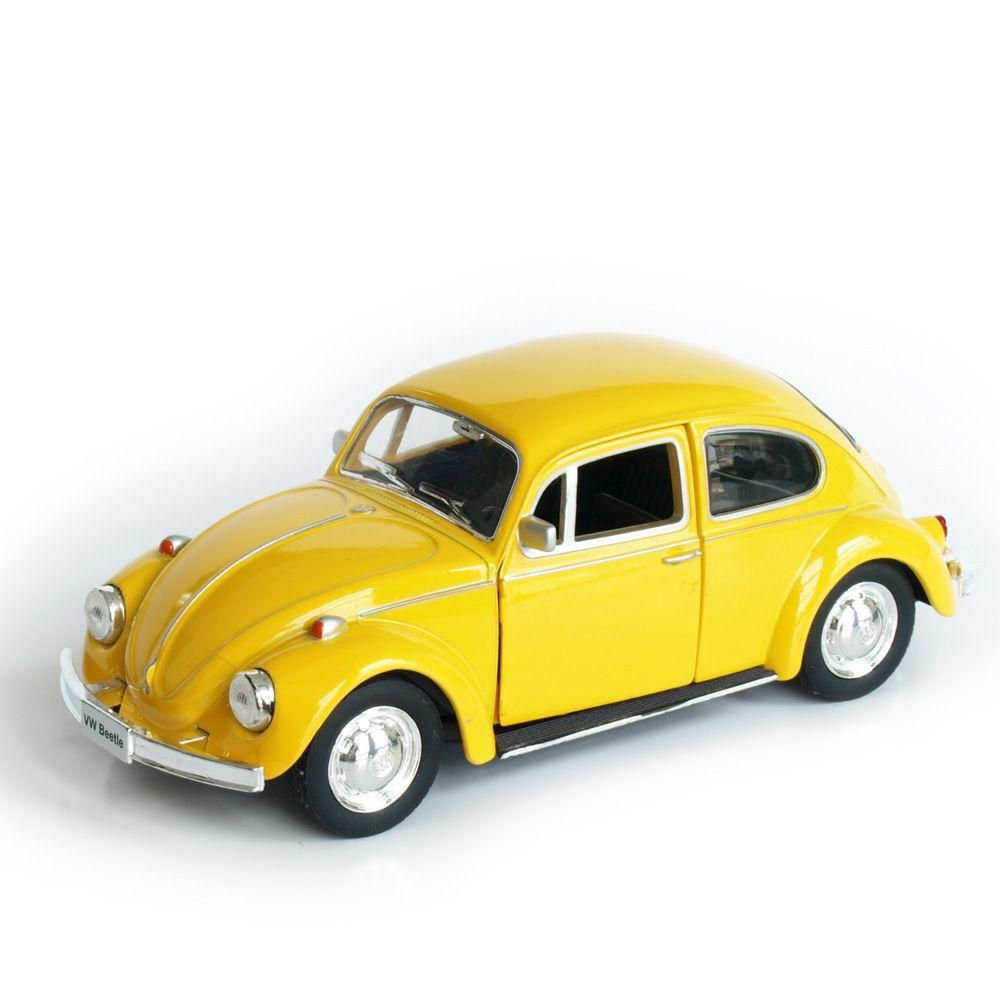 Toys cars pics  Model Car Toy  Scale Yellow Volkswagen Beetle  Vintage