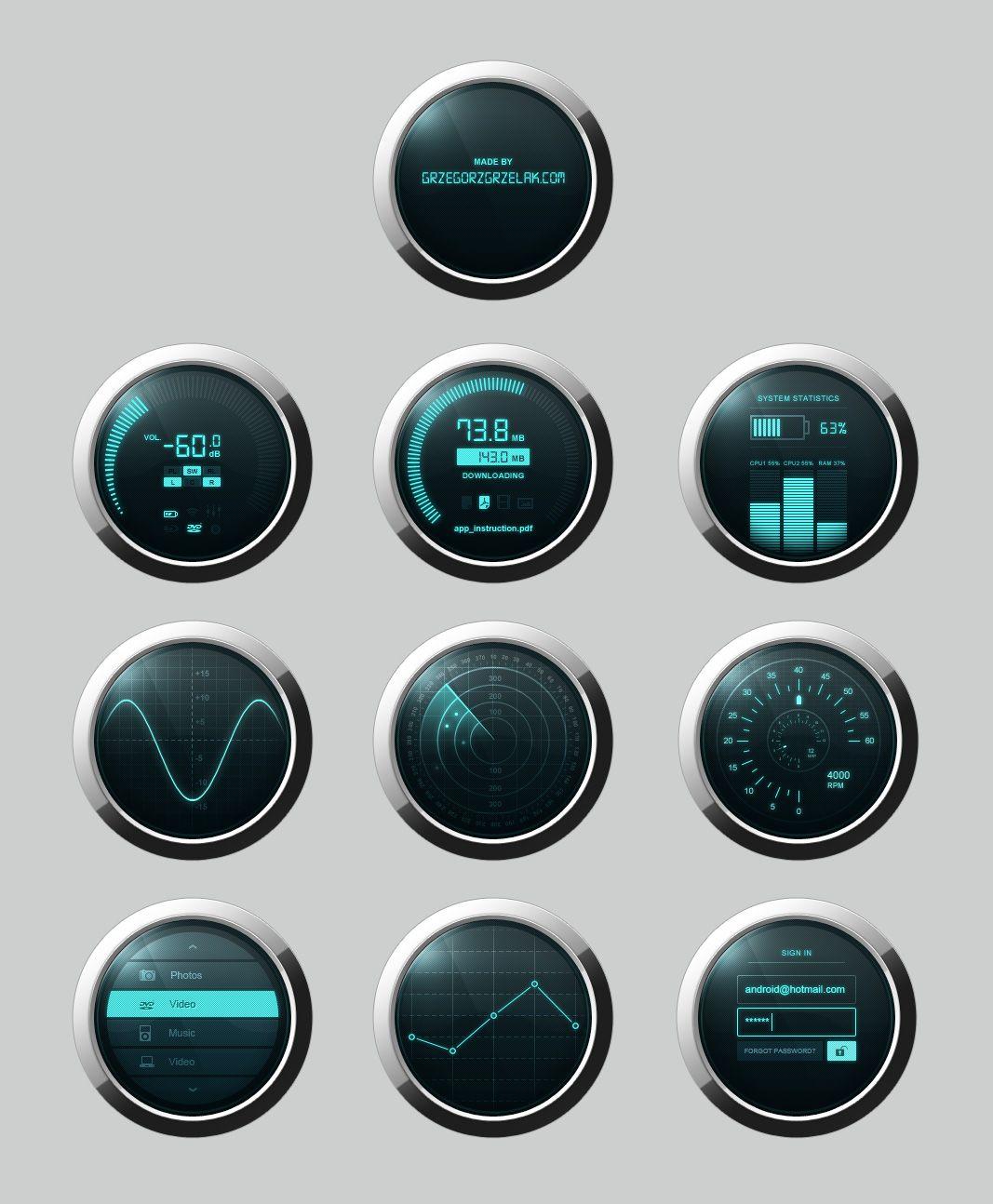 Dashboard PSD Source File Free Download Dashboard