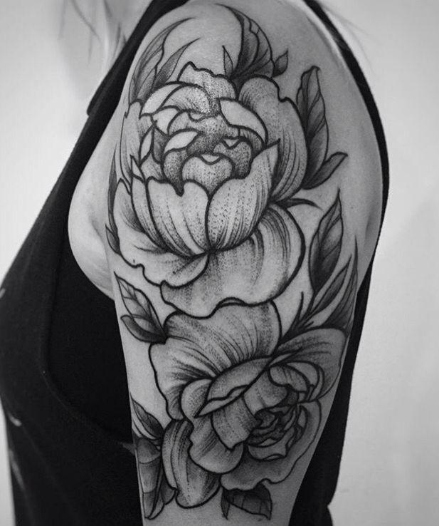 Peonies Tattoo Done At Love Life Tattoo Warwick, Ny