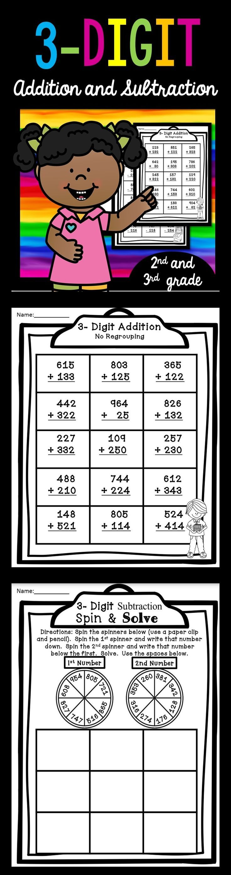 small resolution of 3 Digit Subtraction With Regrouping Worksheets 3rd Grade