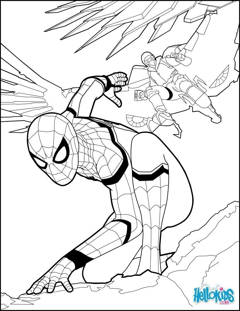 10 spider man infinity coloring pages, spiderman art