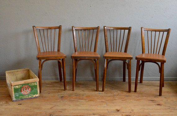 Lot Of Chairs Bistro Baumann 60s Vintage Retro Skai Thonet Fischel