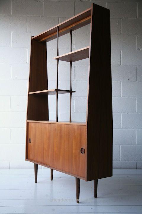 1960s Teak Room Divider Mid Century Modern Display cabinet Modern