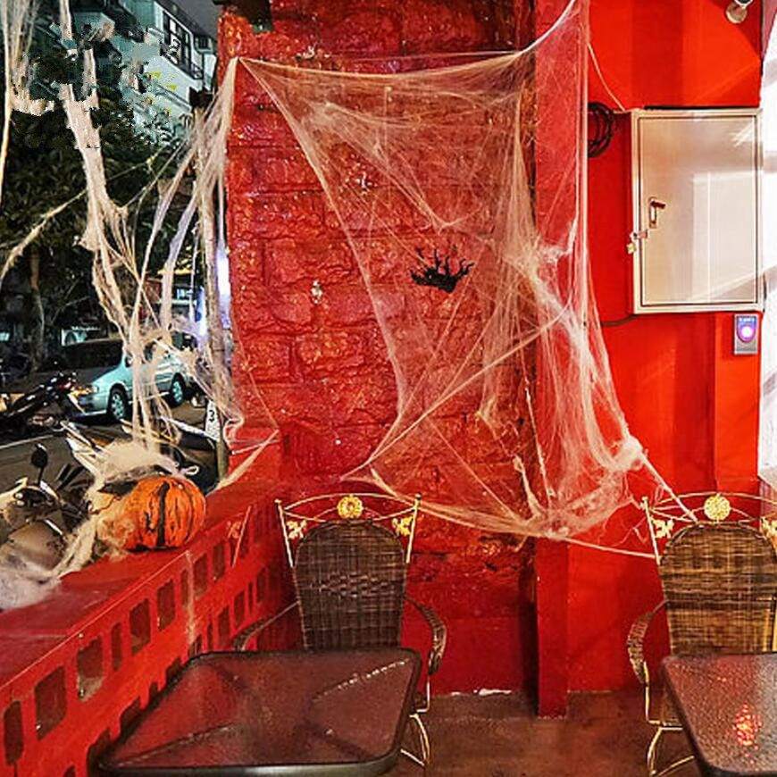 2017 Novetly Stretchable Funny Stretchable Spider web Halloween - spider web halloween decoration