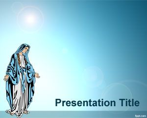 This is a free powerpoint template of the virgin mary to devout and this is a free powerpoint template of the virgin mary to devout and religious people who toneelgroepblik Choice Image