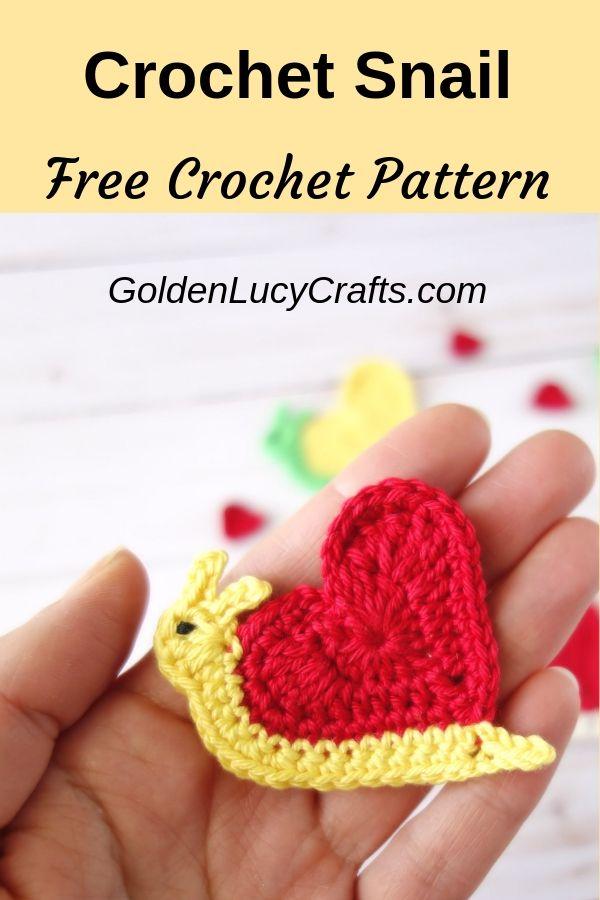 Valentines Day Heart Snail Crochet Pattern Pinterest