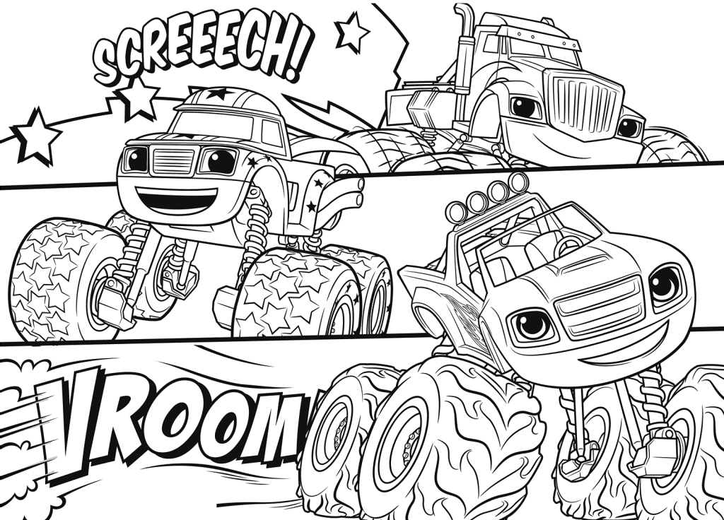 Blaze And The Monster Machines Coloring Pages Best Coloring Pages For Kids Monster Truck Coloring Pages Truck Coloring Pages Monster Coloring Pages