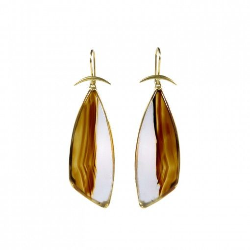 509c6ea0d Gabriella kiss 18k & brushstroke agate wing earrings | _STYLE ...