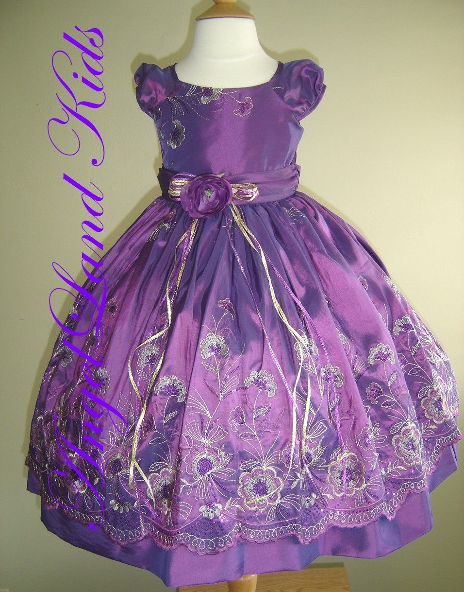 little girls purple dresses | GIRLS DRESS HOME | Little Girl Dresses ...