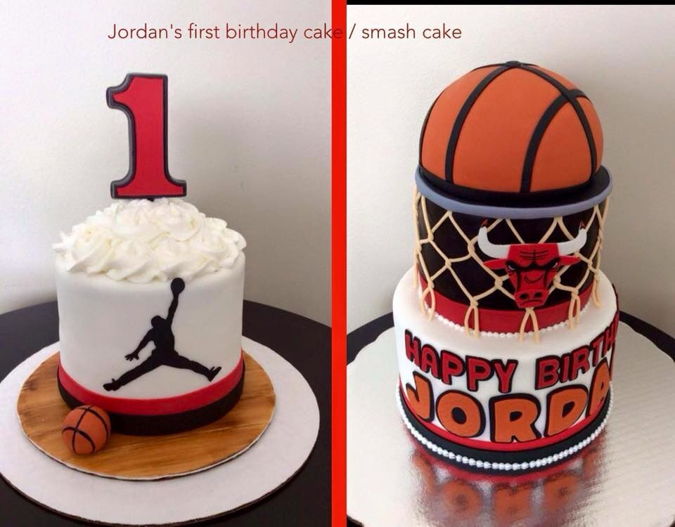 Chicago Bulls Cake With Images Chicago Bulls Cake Basketball