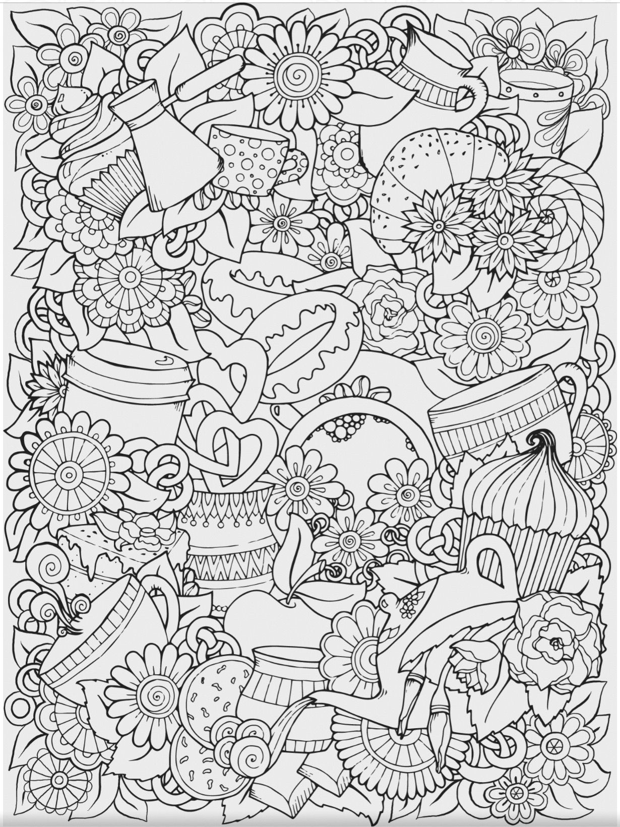 Free Printable Adult Coloring Pages Coffee