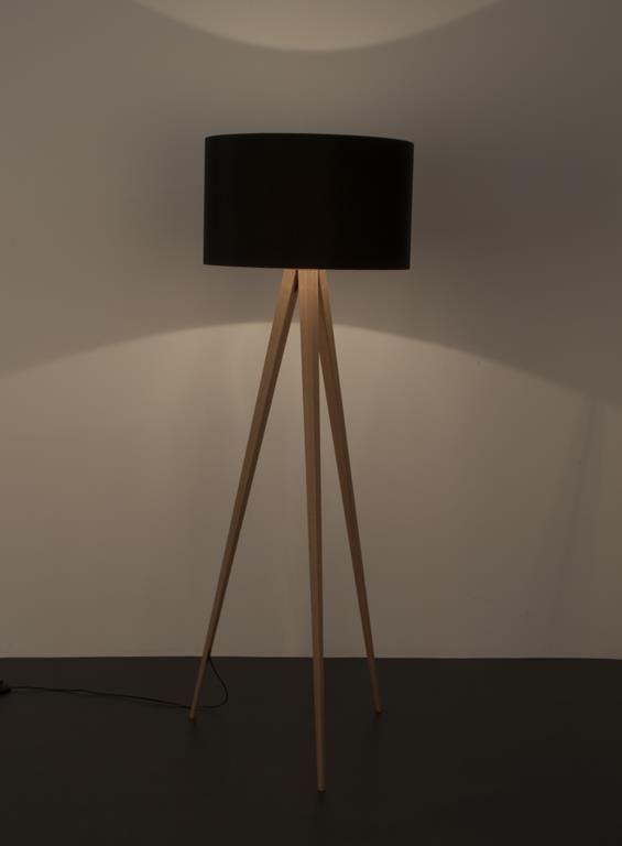 tripod stehleuchte holz schwarz zuiver sammlung. Black Bedroom Furniture Sets. Home Design Ideas