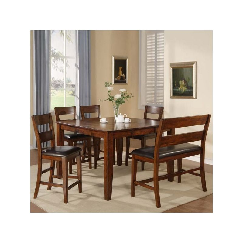Holland House Emilie 6 Piece Counter Height Set With Bench. Pub TablesDining  ...