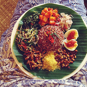 delicious nasi campur from the yellow flower cafe. come