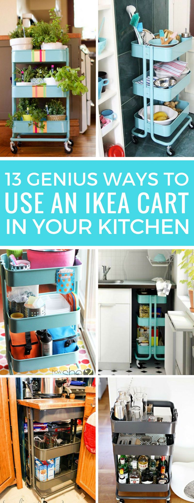 13 Super Clever IKEA Raskog Cart Uses for the Kitchen