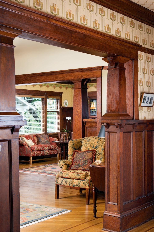 Inside A Craftsman Foursquare Restoration Design For The Vintage House Old House On Craftsman Style Interiors Craftsman Home Interiors Craftsman Interior