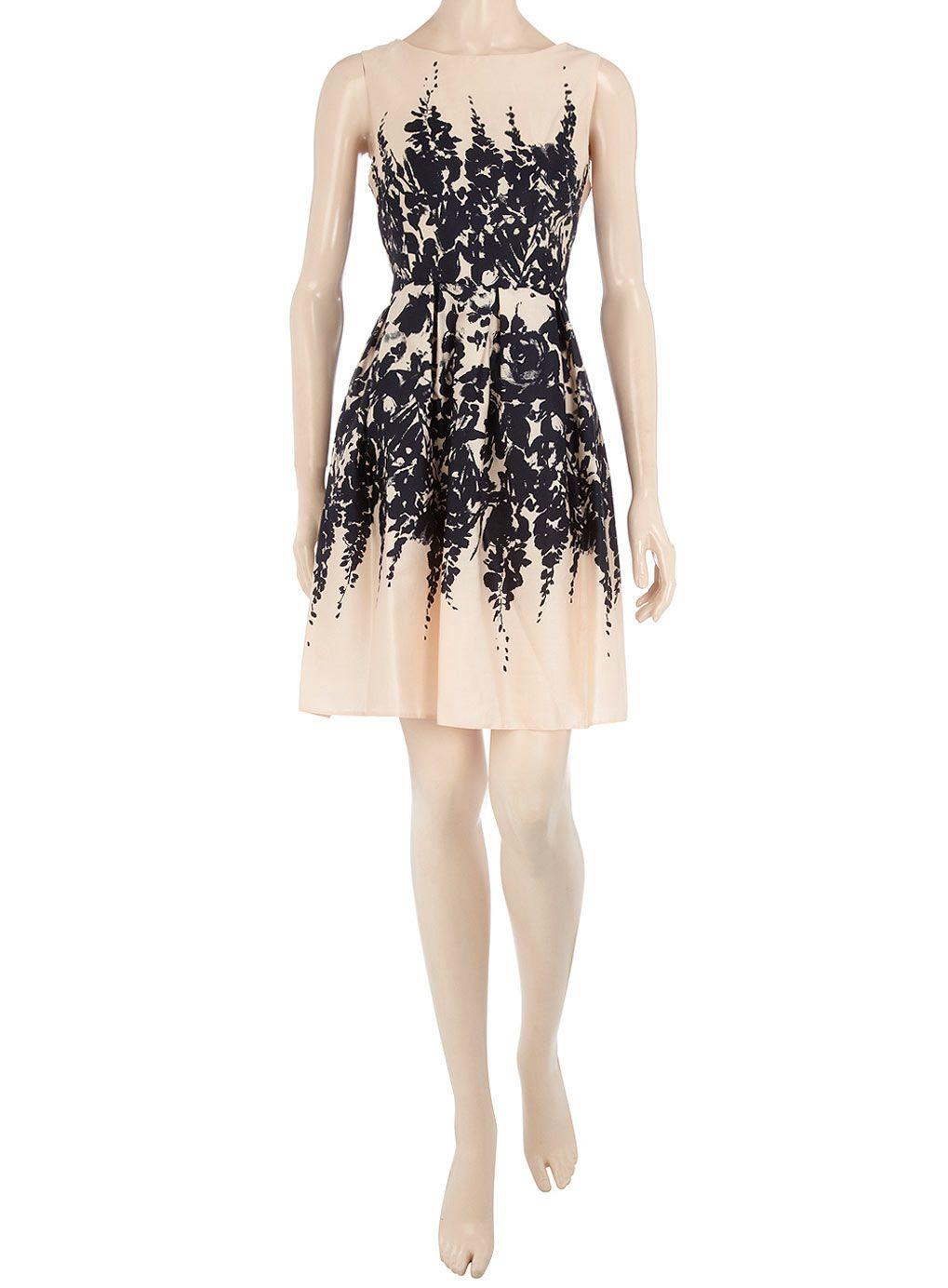 Nude floral border dress dresses pinterest floral border