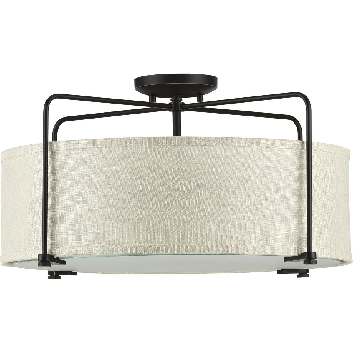 Kempsey Collection ThreeLight SemiFlush Convertible