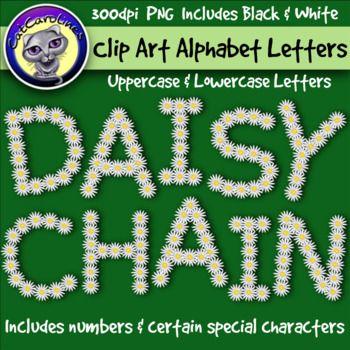 Daisy Chain Clip Art Alphabet Letters Clip Art By Catcarolines