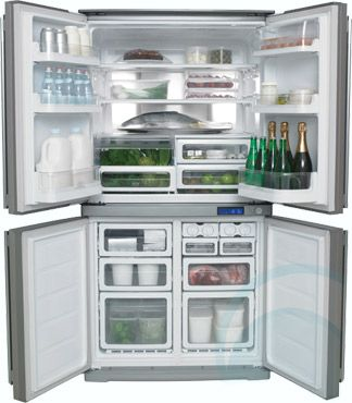 electrolux fridge. dream fridge - 600l electrolux 4 door eqe6007sb