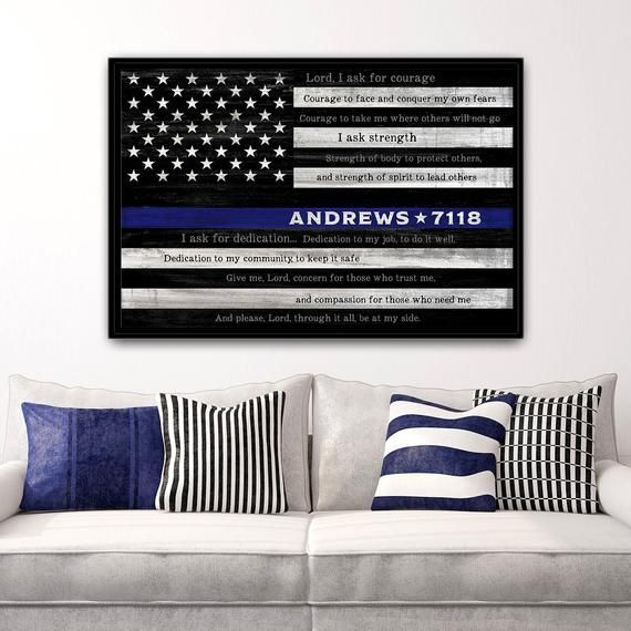 Police Officer Gift, Thin Blue Line, Law Enforce, NYPD, LAPD