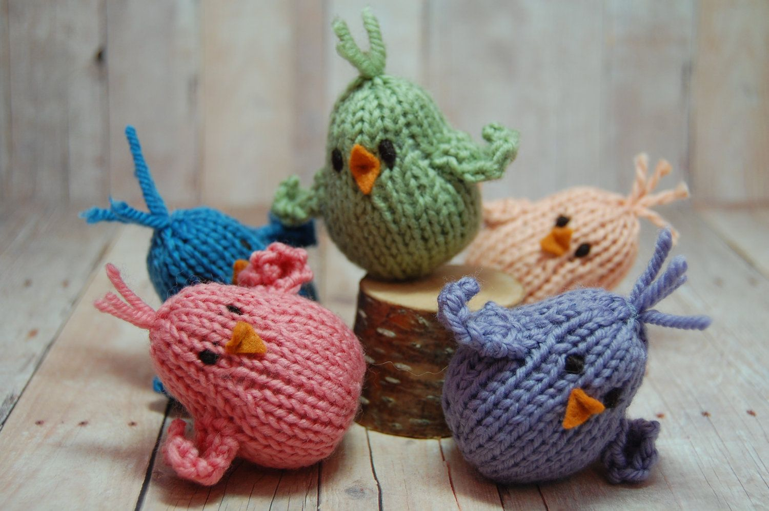 Knitting Pattern Wobbly Bobbly Chicks - Bird Amigurumi - Soft Toy ...