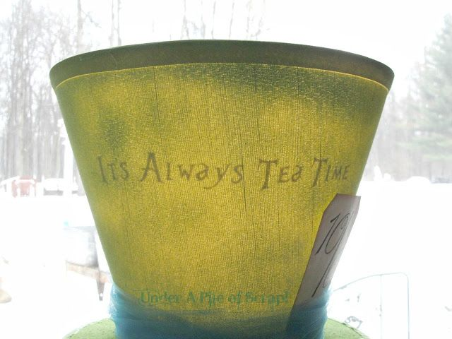 It's Always Tea Time the lamp shade with the message!