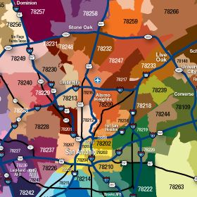 San Antonio Zipcode Map | San Antonio Resources | Map finder, Map ...