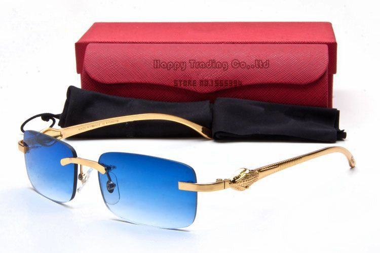 Cartier Blue Lenses Panthere Collection Rimless
