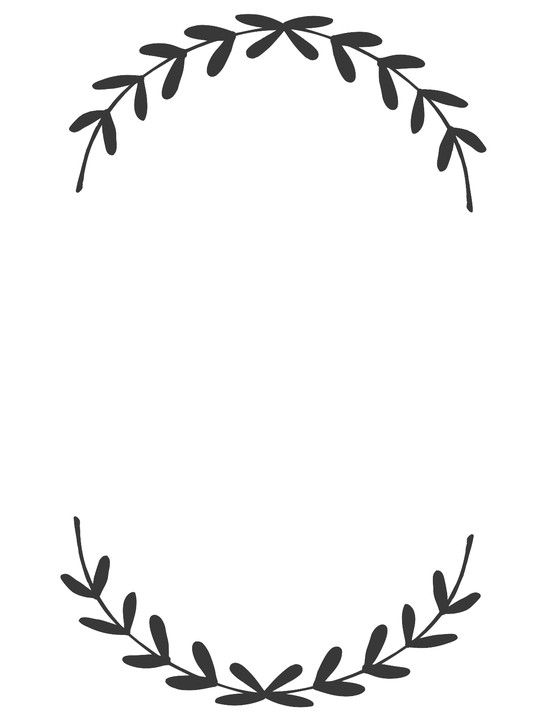 wreath clipart black and white autumn