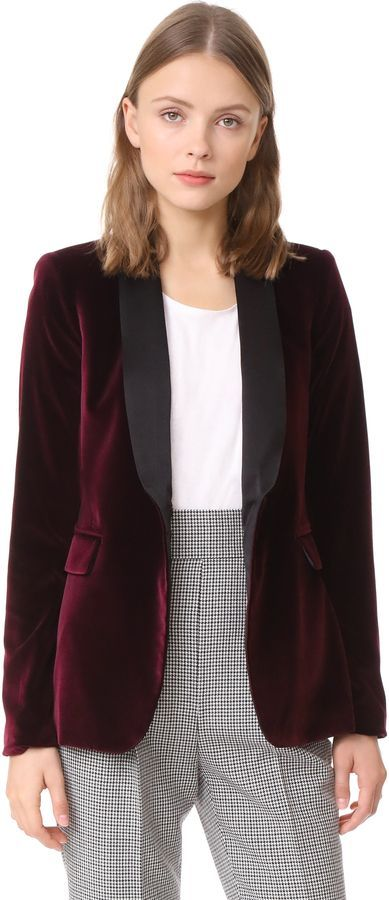26306c2bb9bc alice olivia Macey Fitted Velvet Tuxedo Jacket: http://shopstyle.it/
