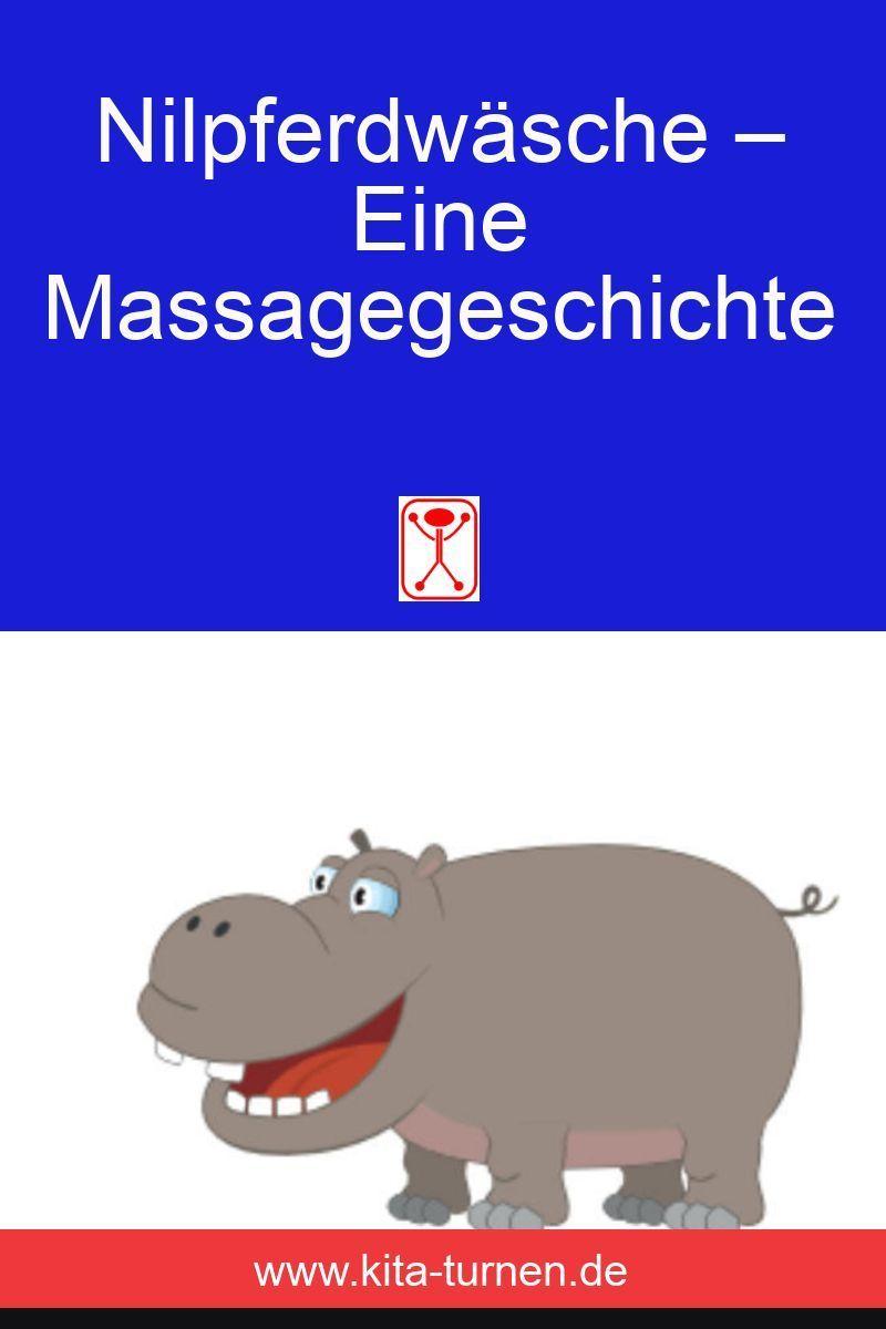 Massagegeschichten für Kinder: Nilpferdwäsche im Zoo