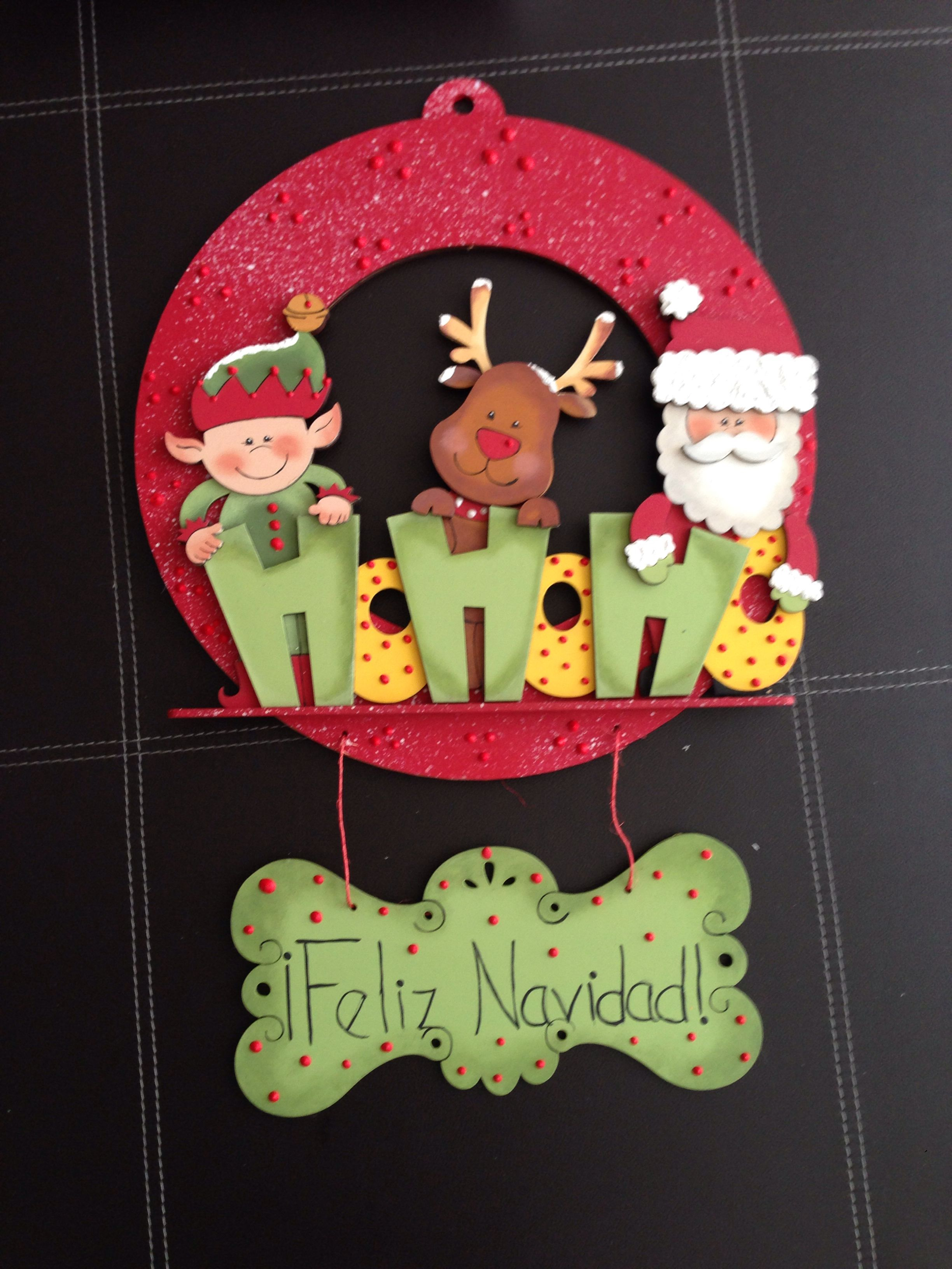 Corona navide a de madera navidad pinterest for Coronas de navidad