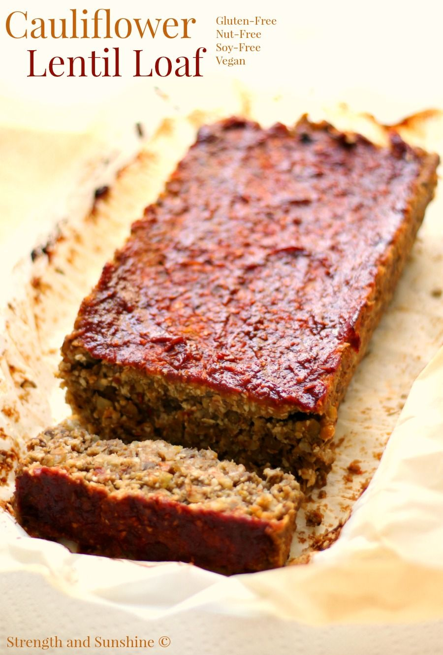 Vegan Cauliflower Lentil Loaf Recipe Lentil Loaf Vegan Lentil