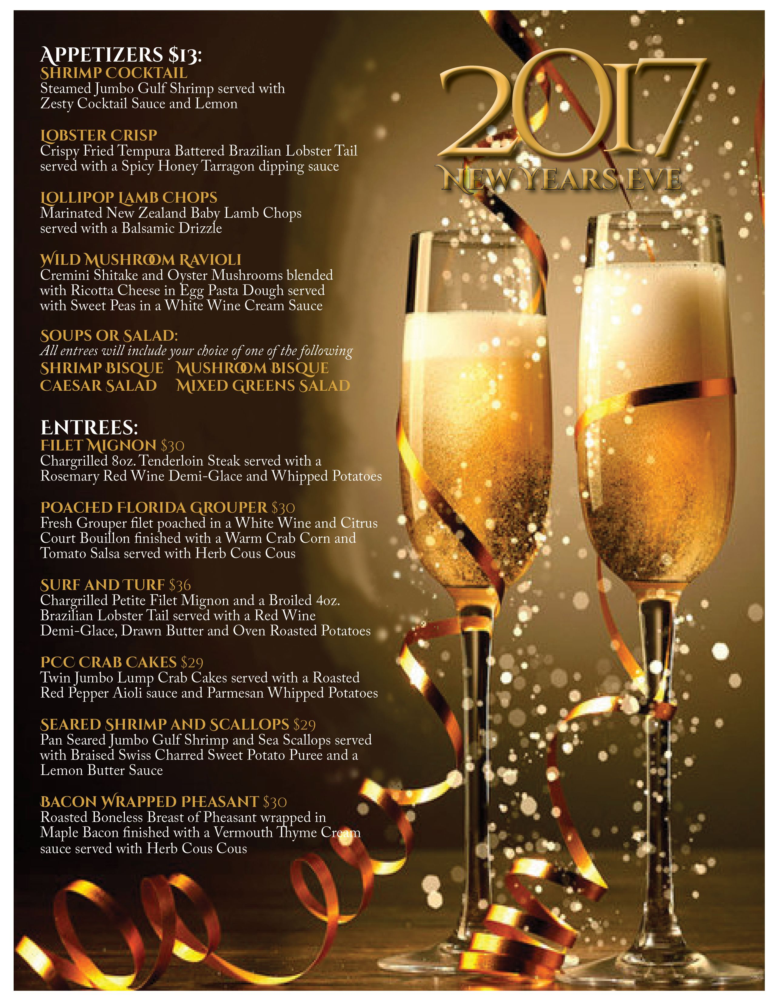 Check Out My Behance Project New Year S Eve Phoenixville Country Club Menu