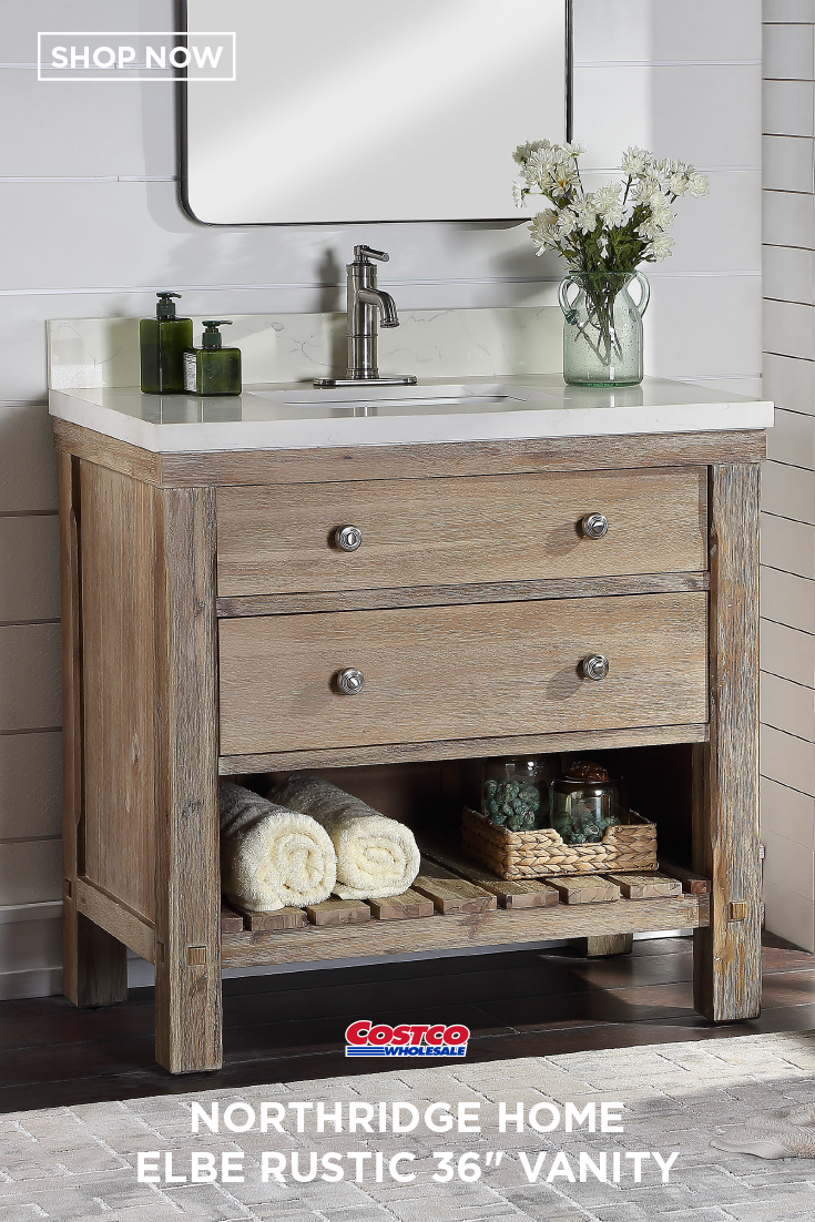 Elbe Rustic 36 Vanity Single Sink Vanity By Northridge Home Reclaimed Wood Bathroom Vanity Home Depot Bathroom Vanity Rustic Bathroom Vanities