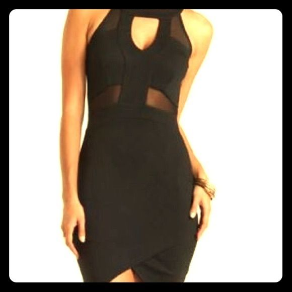 Little Black Dress With Mesh Front Like New M Charlotte Russe