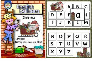 Matching upper/ lower case letters filefolder-Ingles 360 Bilingual Resources
