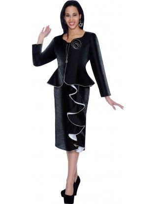 2dd354bcb05c4 Nubiano Dresses Black/White DN5472 | Suits & Dresses | Dresses ...