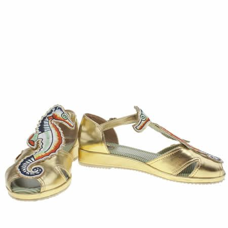 Sale Womens Yellow Miss L-fire Seahorse Sandals On Clearance