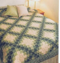 Two Color Irish Chain Quilt Pattern Beginner | eBay...I'm really thinking about doing this pattern for the girls' quilts...I love the colors