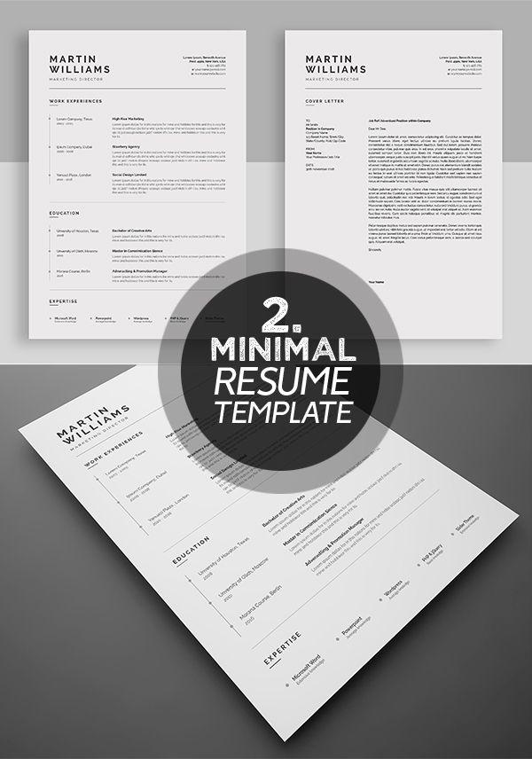 dynamic and professional resume template #cleanresume