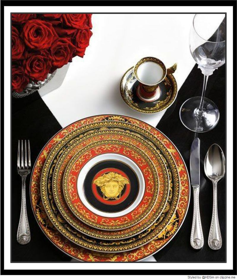 793bc9853 Stunning Table Scapes Versace Home, Versace Versace, Versace Fashion, Nate  Berkus, Place