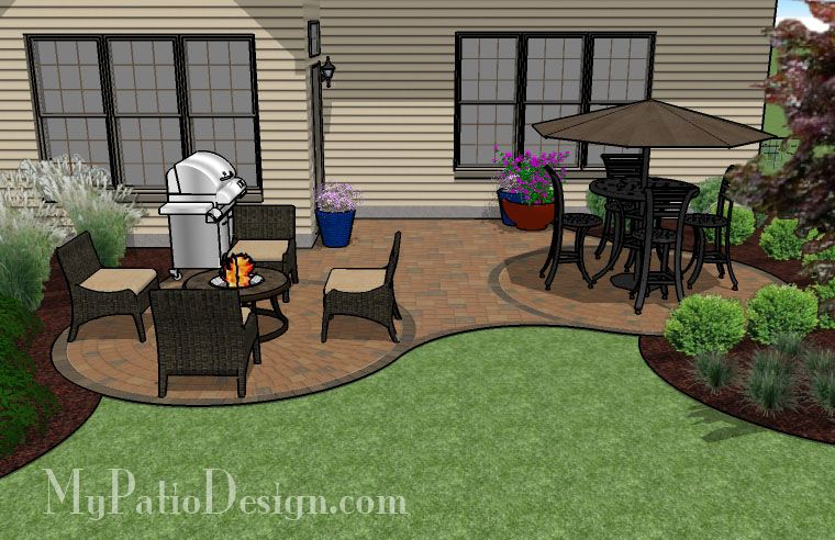 "Curved Patio for ""L"" Shaped Home 