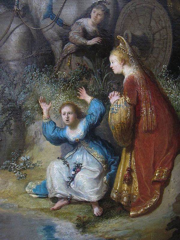 """The Abduction Of Europa"" --  Detail  -- 1632 -- Rembrandt van Rijn -- Dutch -- Oil on oak -- J. Paul Getty Museum -- Los Angeles, California"