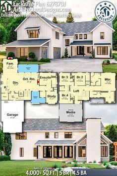 Plan 62787DJ: Exclusive Modern Farmhouse Plan with